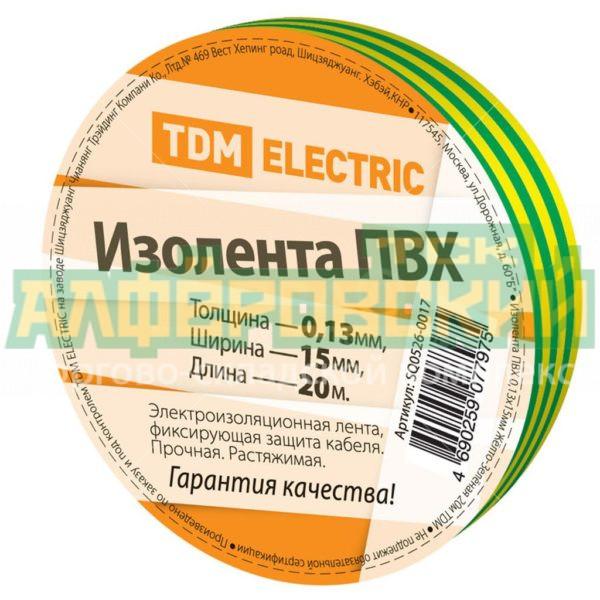 izolenta tdm electric zhelto zelenaja 15 mm 20 m 5ddcf024518c1 600x600 - Изолента TDM Electric желто-зеленая, 15 мм, 20 м