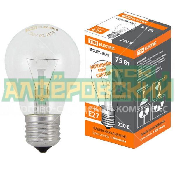 lampa nakalivanija tdm electric sq0332 0037 75 vt e27 5ddcd18a821e4 600x600 - Лампа накаливания TDM Electric SQ0332-0037, 75 Вт, E27