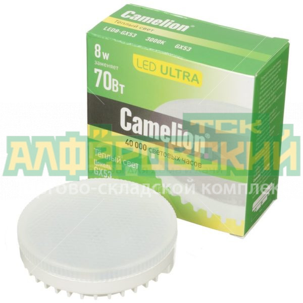 lampa svetodiodnaja camelion 11776 8 vt gx53 teplyj belyj svet 5ddcd2b196c60 600x600 - Лампа светодиодная Camelion 11776 8 Вт GX53 теплый белый свет