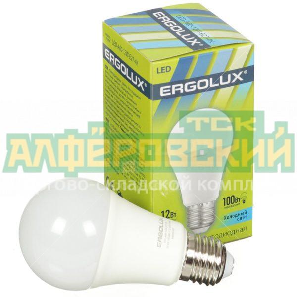 lampa svetodiodnaja ergolux led a60 12w 12 vt e27 holodnyj belyj svet 5ddcd25b339d8 600x600 - Лампа светодиодная Ergolux LED-A60-12W, 12 Вт, E27, холодный белый свет