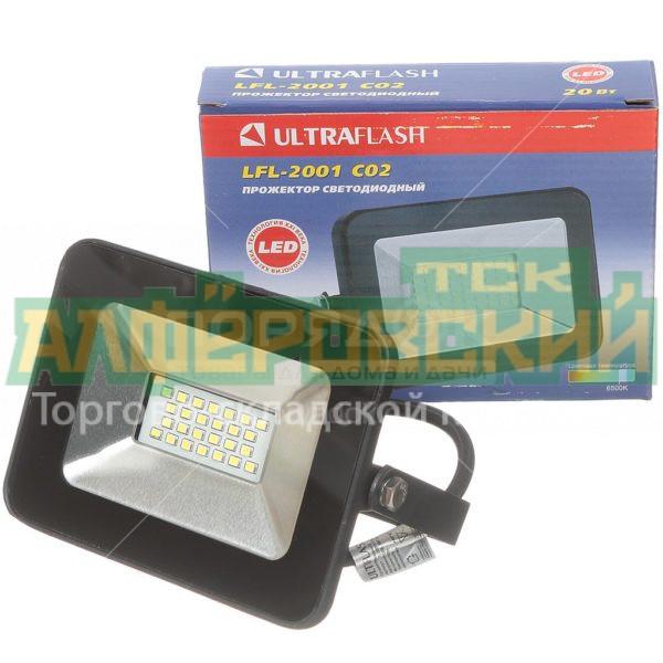 prozhektor svetodiodnyj ultraflash 20 vt 6500 k lfl 2001 c02 chernyj 5ddcd681e7800 600x600 - Прожектор светодиодный Ultraflash, 20 Вт, 6500 К, LFL-2001 C02 черный