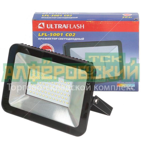prozhektor svetodiodnyj ultraflash 50 vt lfl 5001 c02 chernyj 5ddcd67c75598 600x600 - Прожектор светодиодный Ultraflash, 50 Вт, LFL-5001 C02 черный