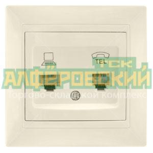 rozetka skrytoj ustanovki setevaja i telefonnaja ledard rj11 rj45 kremovaja 5ddce330708bb 300x300 - Розетка скрытой установки сетевая и телефонная Ledard RJ11/RJ45 кремовая