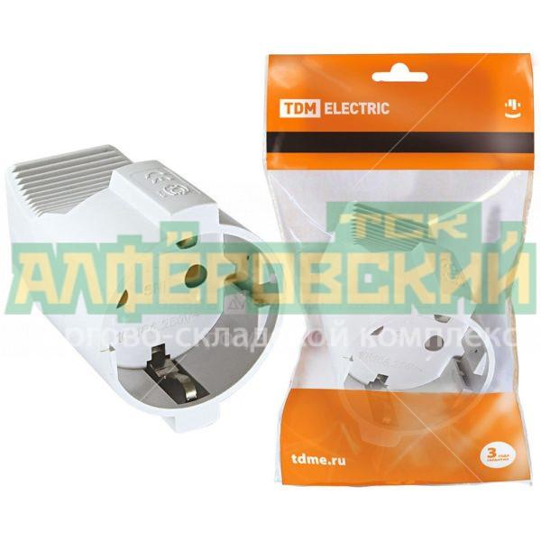 shtepsel tdm electric sq1806 0031 belyj 5ddceee3c76eb 600x600 - Штепсель TDM Electric SQ1806-0031 белый