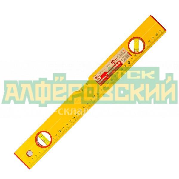 uroven stroitelnyj puzyrkovyj bartex 3 glazka zheltyj 0 4 m 5ddc2ca1625f9 600x600 - Уровень строительный пузырьковый Bartex 3 глазка желтый, 0.4 м