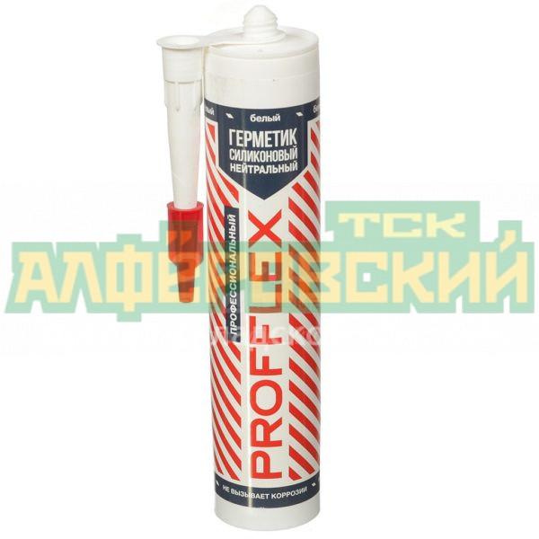 germetik silikonovyj profflex nejtralnyj belyj 280 ml 5df79670d3b59 600x600 - Герметик силиконовый Profflex нейтральный белый, 280 мл
