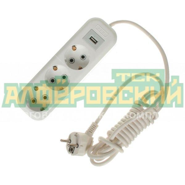 udlinitel jelektiricheskij lux u3 e usb 03 standart 3 rozetki usb 3 m 5def61d701c71 600x600 - Удлинитель электирический LUX У3-Е-USB-03 Стандарт 3 розетки + USB, 3 м