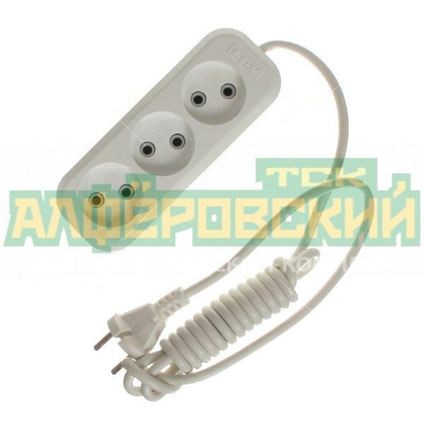 udlinitel jelektricheskij lux o 3 rozetki 2 m 5def61f71f198 600x600 - Удлинитель электрический LUX O 3 розетки, 2 м