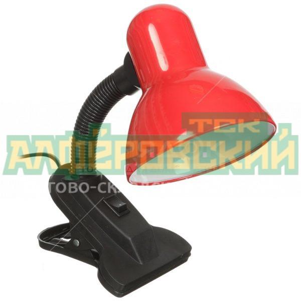svetilnik nastolnyj na prishhepke ultraflash uf 320 c04 60 vt e27 krasnyj 5e1d70237916e 600x600 - Светильник настольный на прищепке Ultraflash UF-320 C04 60 Вт E27, красный