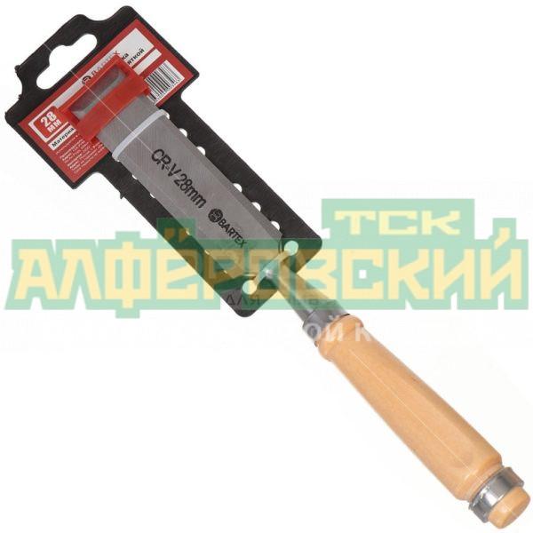 doloto stameska bartex s derevjannoj rukojatkoj 28 mm 5e8b9b1f35c78 600x600 - Долото-стамеска Bartex с деревянной рукояткой, 28 мм