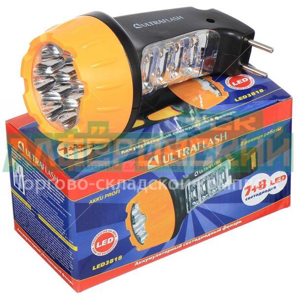 fonar ruchnoj ultraflash led3818 7 8 led 2 rezhima 5eb11b3e9e6f4 600x600 - Фонарь ручной Ultraflash LED3818, 7+8 LED, 2 режима