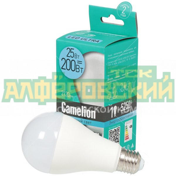 lampa svetodiodnaja camelion led25 a65 845 25 vt e27 holodnyj belyj svet 5eba4fc59f6b6 600x600 - Лампа светодиодная Camelion LED25-A65/845 25 Вт Е27 холодный белый свет