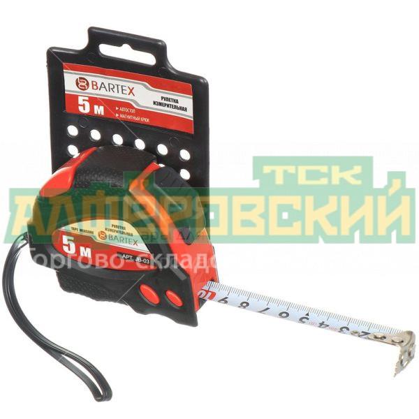 ruletka izmeritelnaja bartex jb 01 s fiksatorom 5 m 5eb0720484b11 600x600 - Рулетка измерительная Bartex JB-01 с фиксатором, 5 м