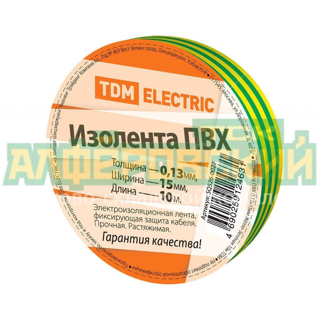 izolenta tdm electric zhelto zelenaya 15 mm 10 m 5f16b59621c8a - Изолента TDM Electric желто-зеленая, 15 мм, 10 м