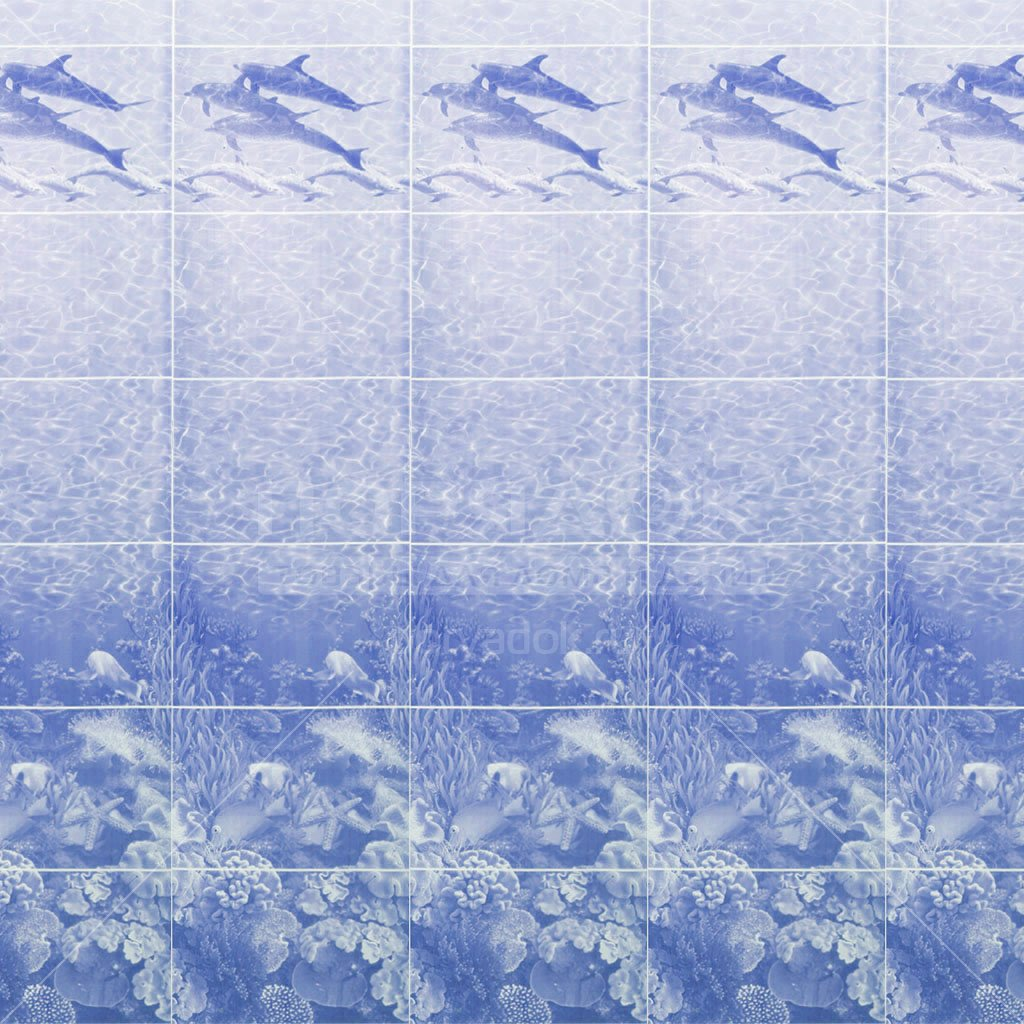 pvh panel akvaton delfiny sinij 0 3h2 7 m 5f140a160e0ad - ПВХ панель Акватон Дельфины синий, 0.3х2.7 м