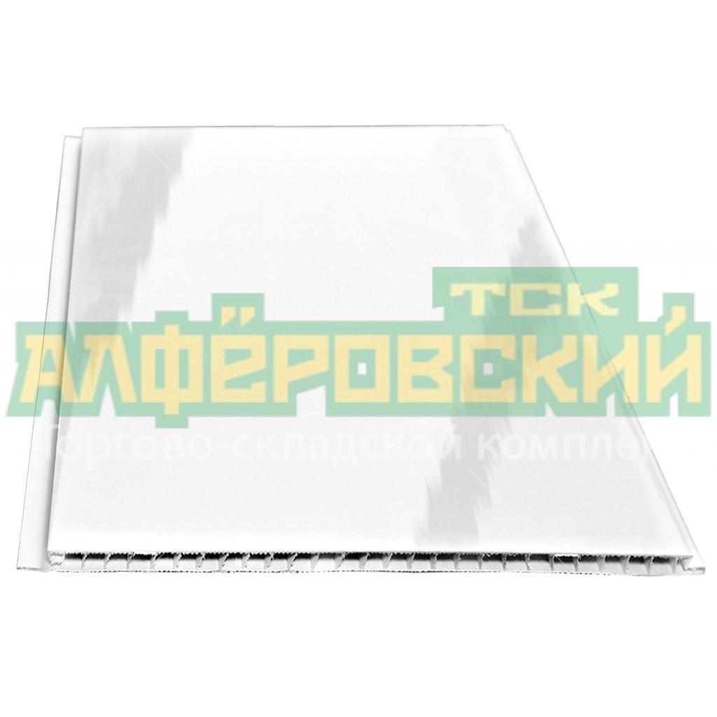pvh panel stenoplast lakirovannaya belaya 0 5h3 m 5f140a450febc - ПВХ панель Стенопласт лакированная белая, 0.5х3 м