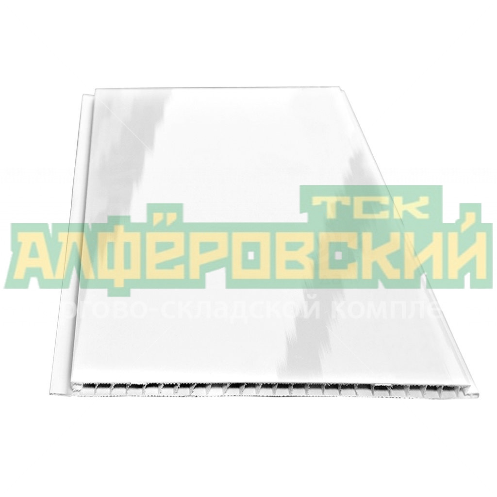 pvh panel vek lakirovannaya belaya 0 25h4 m 5f140a605d3b1 - ПВХ панель ВЕК лакированная белая, 0.25х4 м
