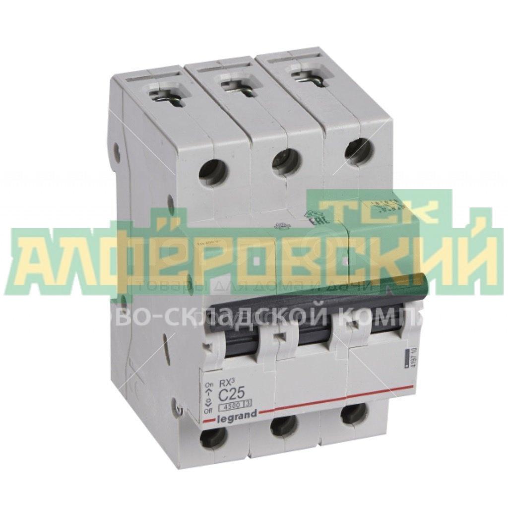 avtomaticheskij vyklyuchatel legrand c rx3 419710 3r 25 a 4 5 ka 5f44e47a18d20 - Автоматический выключатель Legrand C RX3 419710 3Р 25 А, 4.5 кА