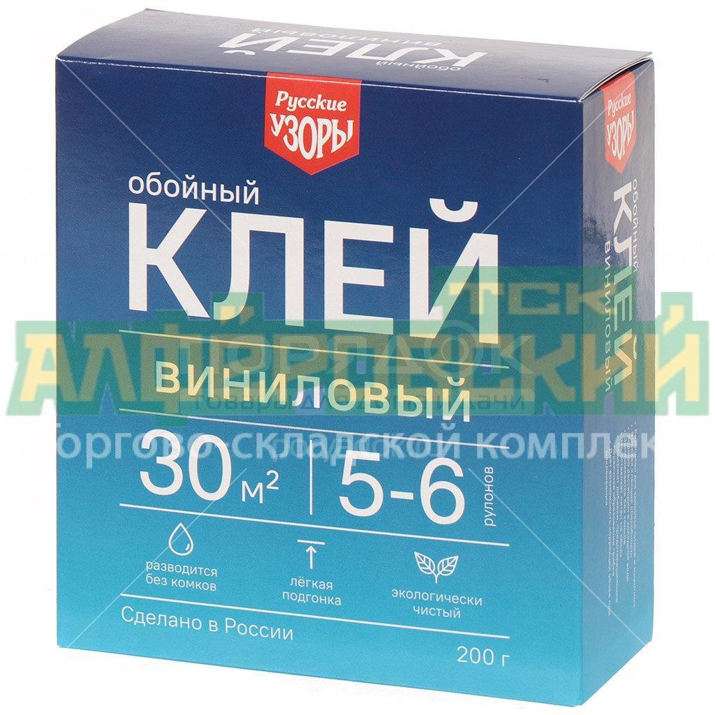 klej dlya vinilovyh oboev russkie uzory 200 g 5f4cfa5be6923 - Клей для виниловых обоев Русские узоры, 200 г