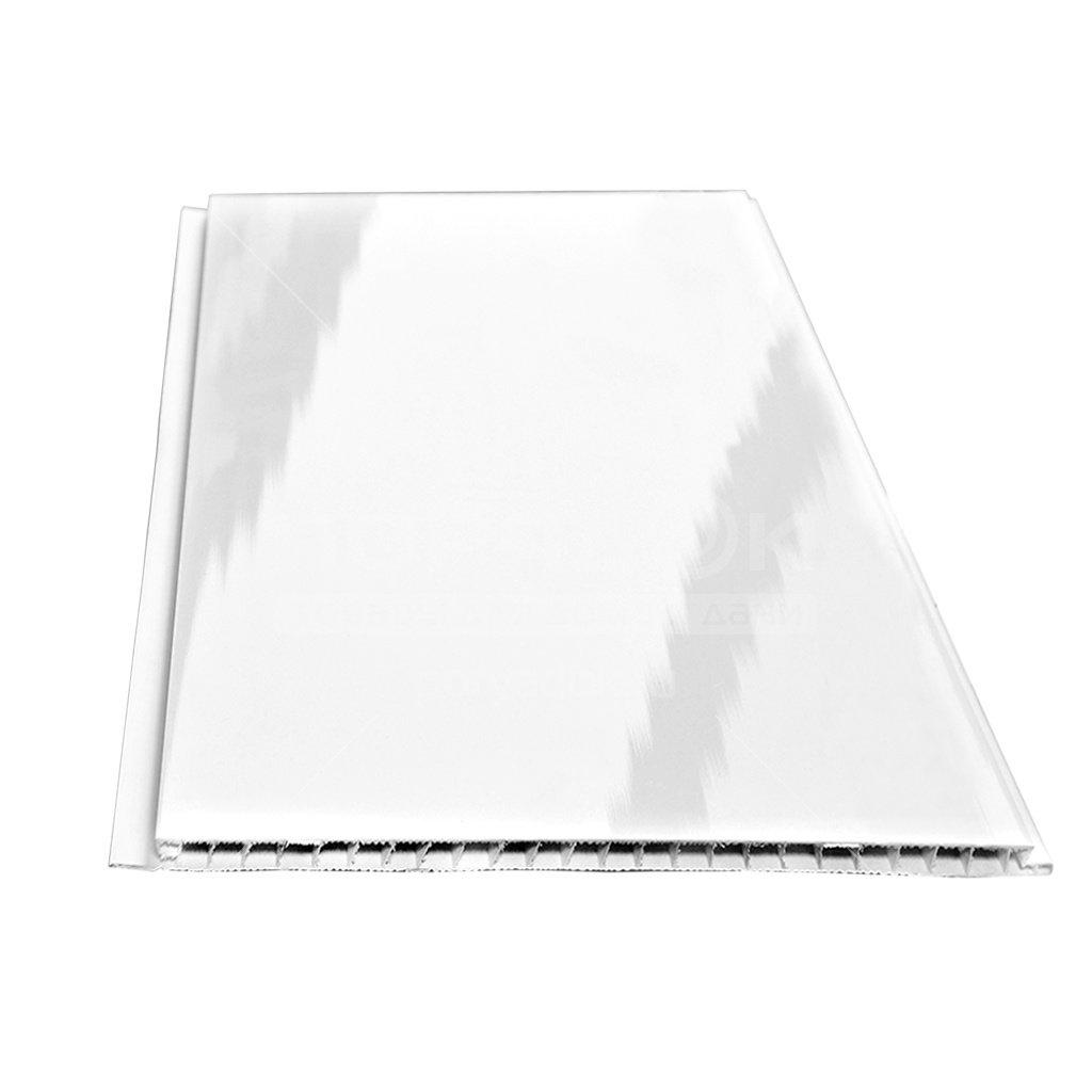 pvh panel stenoplast lakirovannaya belaya 0 25h2 7 m 5f2fba404cd6e - ПВХ панель Стенопласт лакированная белая, 0.25х2.7 м
