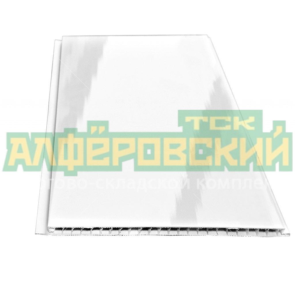 pvh panel stenoplast lakirovannaya belaya 0 25h3 m 5f2fba2508bab - ПВХ панель Стенопласт лакированная белая, 0.25х3 м
