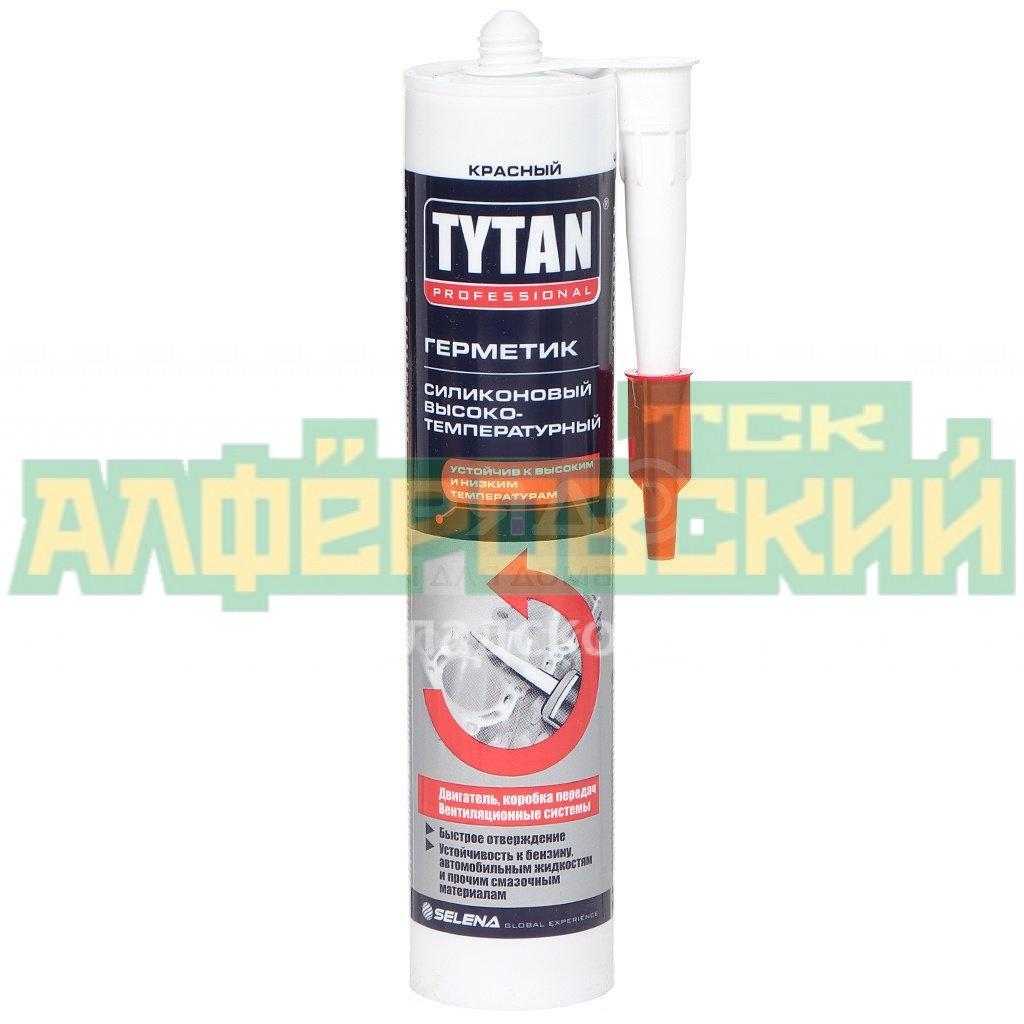 germetik silikonovyj tytan 74614 vysokotemperaturnyj krasnyj 310 280 ml 5f68ba543cbbc - Герметик силиконовый Tytan 74614 высокотемпературный красный, 310/280 мл