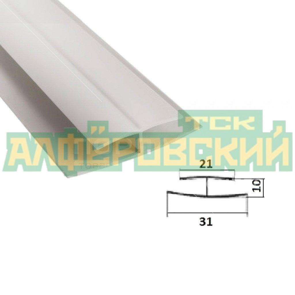 pvh profil h akvaton belyj 3 mm 5f548833c7183 - ПВХ профиль H Акватон белый, 3 мм