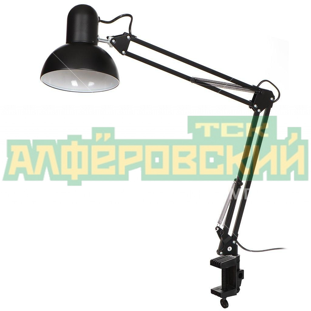 svetilnik nastolnyj na strubczine lofter 856c blk spe17156 24 i k e27 chernyj 5f4df74eaf0dc - Светильник настольный на струбцине Lofter 856C-blk/SPE17156-24 I.K, E27, черный