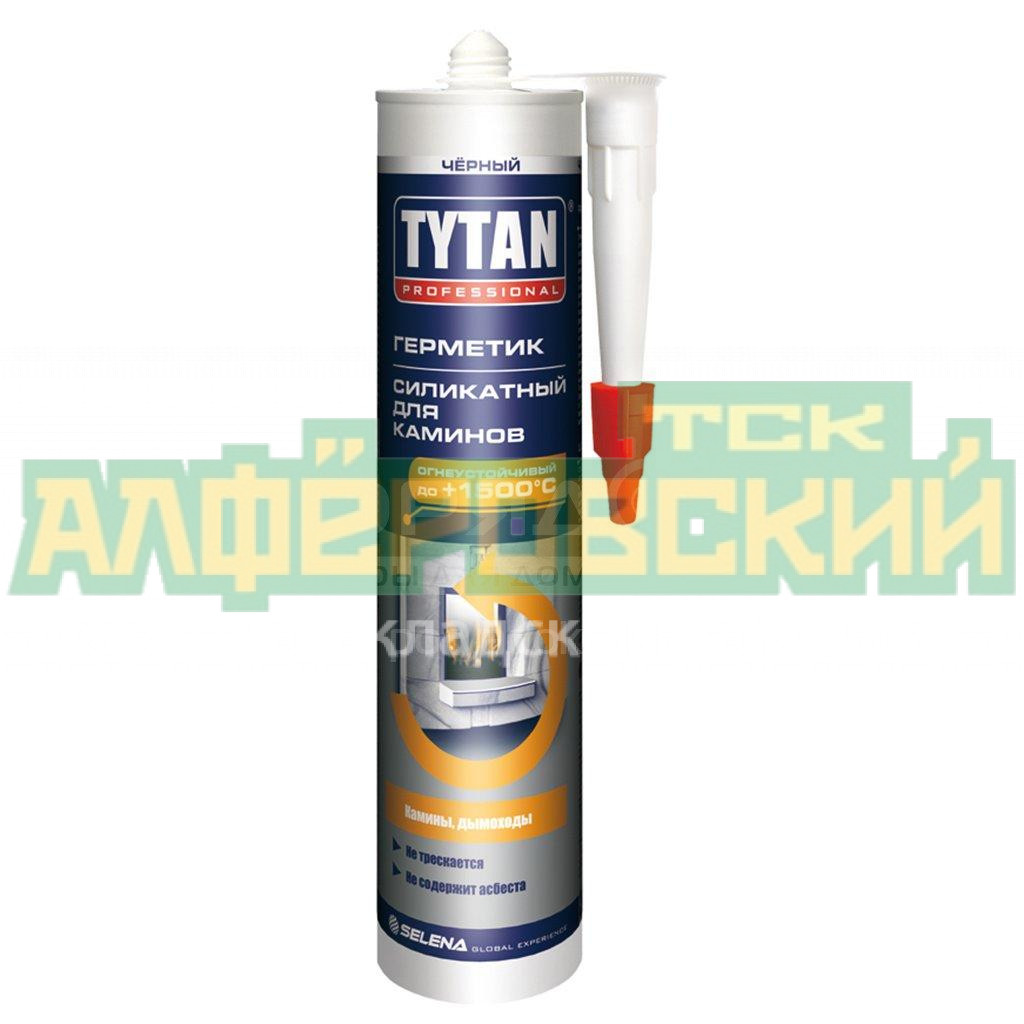 germetik silikatnyj tytan 20300 dlya kaminov chernyj 280 ml 5f7b300f8c31e - Герметик силикатный Tytan 20300 для каминов черный, 280 мл