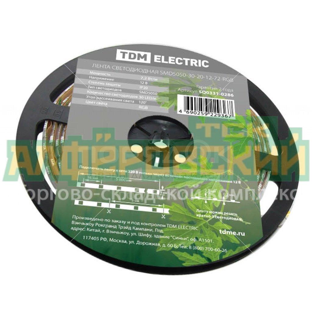 lenta svetodiodnaya tdm electric smd2835 60 led m ip65 12 v 48 vt m 3000 k sq0331 0310 5 m 5f8555d06751a - Лента светодиодная TDM Electric SMD2835-60 LED/м-IP65-12 В-4,8 Вт/м-3000 К SQ0331-0310, 5 м