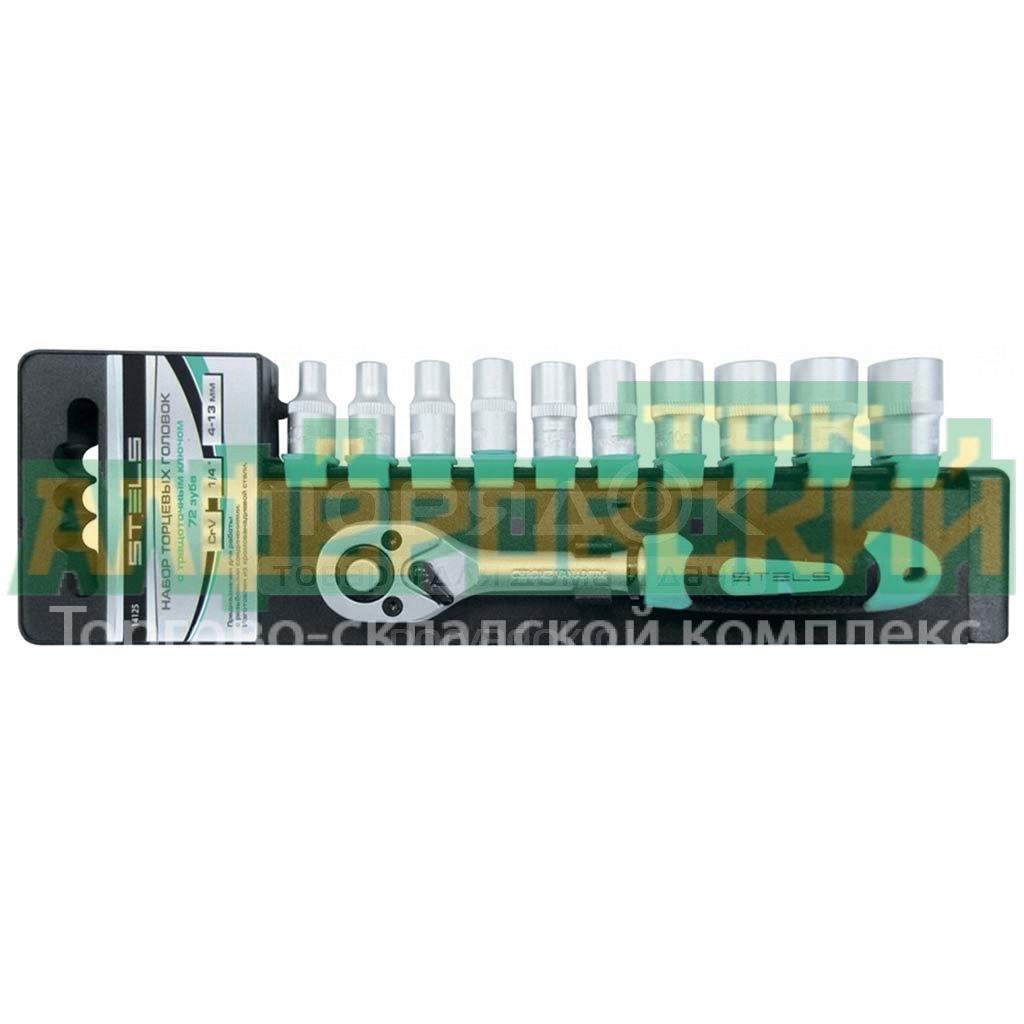 nabor torczevyh golovok stels 14127 11 sht 10 22 mm 5f84cfd483046 - Набор торцевых головок Stels 14127, 11 шт, 10-22 мм