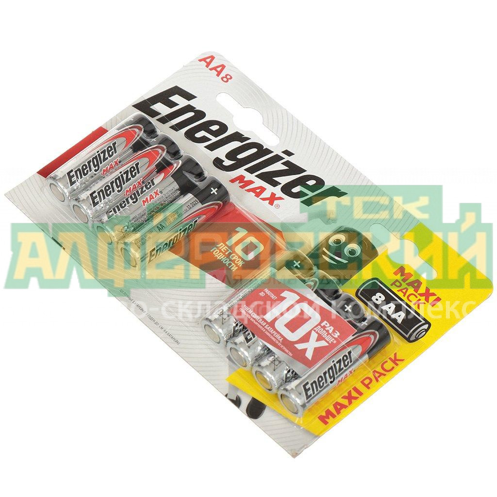 batarejka energizer max aa lr06 e91 bp8 8 sht 5feb3c55d261e - Батарейка Energizer MAX АА LR06/E91 BP8, 8 шт